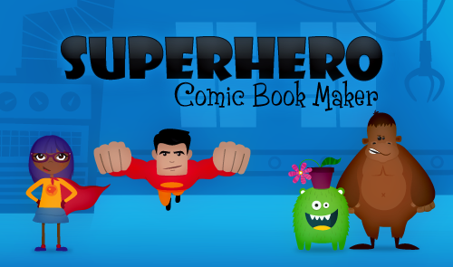 YT static mvs Superhero Comic Maker